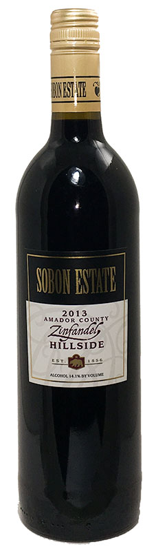 <b>Sobon Estate</b><br/> Hillside Zinfandel 2013
